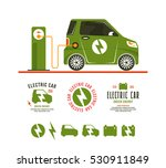 illustration of electric car.... | Shutterstock .eps vector #530911849