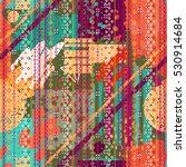 abstract art seamless pattern ... | Shutterstock .eps vector #530914684