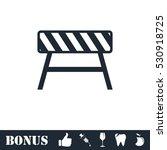 road barrier icon flat. vector... | Shutterstock .eps vector #530918725