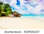 tropical island. the seychelles.... | Shutterstock . vector #530920237