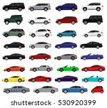 realistic car. different cars.... | Shutterstock .eps vector #530920399