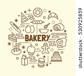 bakery minimal thin line icons... | Shutterstock .eps vector #530925859
