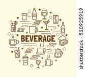 beverage minimal thin line... | Shutterstock .eps vector #530925919