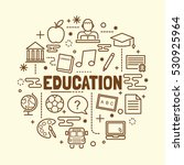 education minimal thin line... | Shutterstock .eps vector #530925964