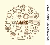 award minimal thin line icons... | Shutterstock .eps vector #530925985