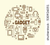 gadget minimal thin line icons... | Shutterstock .eps vector #530926051