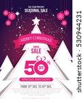creative merry christmas offer... | Shutterstock .eps vector #530944231