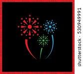 fireworks vector icon | Shutterstock .eps vector #530949991