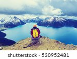 hike to turquoise waters of...   Shutterstock . vector #530952481