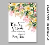 wedding invitation floral... | Shutterstock .eps vector #530955985