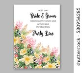 wedding invitation floral... | Shutterstock .eps vector #530956285