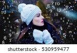 winter numerology  magic of... | Shutterstock . vector #530959477