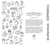 hand drawn doodle coffee time...   Shutterstock .eps vector #530960011