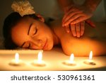 woman during a massage... | Shutterstock . vector #530961361