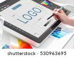 logo design brand designer... | Shutterstock . vector #530963695