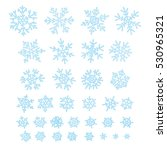 set of different doodle  hand... | Shutterstock .eps vector #530965321