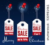 christmas sale tags on winter... | Shutterstock .eps vector #530981461