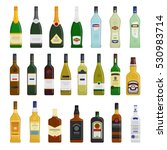 big set of different bottles of ... | Shutterstock .eps vector #530983714