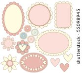 romantic tag or label...   Shutterstock . vector #53098945
