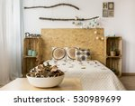 bowl of autumn leaves in a... | Shutterstock . vector #530989699