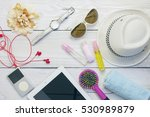 top view of traveler's outfits... | Shutterstock . vector #530989879