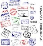 multicolored international... | Shutterstock . vector #53099053
