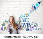 startup concept. happy...   Shutterstock . vector #530992531