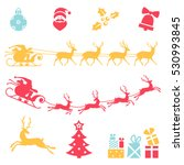 christmas icons. vector set of... | Shutterstock .eps vector #530993845