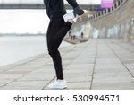 closeup of man athlete standing ... | Shutterstock . vector #530994571