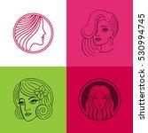 vector set of logo design... | Shutterstock .eps vector #530994745