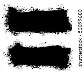 grunge ink splat banner with... | Shutterstock . vector #53099680