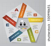 abstract 5 steps modern... | Shutterstock .eps vector #530998651