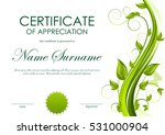 certificate of appreciation... | Shutterstock .eps vector #531000904