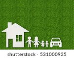 paper cut of family on green... | Shutterstock . vector #531000925