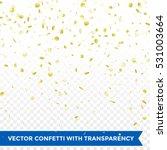 gold confetti rain festive... | Shutterstock .eps vector #531003664