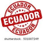 ecuador. stamp. red round... | Shutterstock .eps vector #531007249