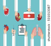 human organ for transplantation ... | Shutterstock .eps vector #531013387