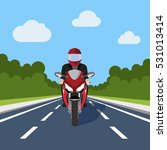 man ride motor bike on highway  ... | Shutterstock .eps vector #531013414