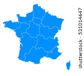 blue map of france2016 | Shutterstock .eps vector #531014647