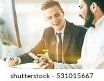 portrait of two business... | Shutterstock . vector #531015667