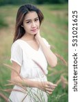 beautiful woman in neutral...   Shutterstock . vector #531021625