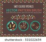 decorative sprinkles vector... | Shutterstock .eps vector #531022654