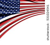 usa flag fabric satin rinse on... | Shutterstock . vector #531024541