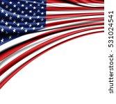 usa flag fabric satin rinse on... | Shutterstock . vector #531024541
