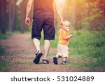 father and son walking in the... | Shutterstock . vector #531024889