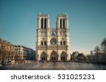 notre dame cathedral in paris ... | Shutterstock . vector #531025231