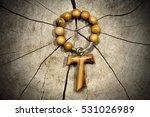 Tau  Wooden Cross In Shape Of...