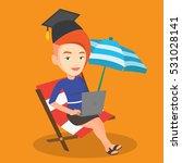 caucasian graduate lying in...   Shutterstock .eps vector #531028141