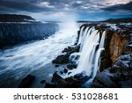 rapid flow of water powerful... | Shutterstock . vector #531028681