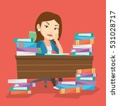 young angry student studying... | Shutterstock .eps vector #531028717